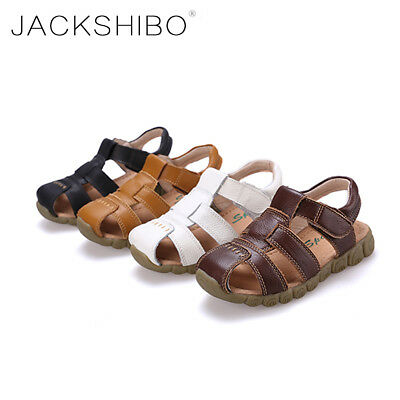 Boys Sandals Kids Summer Beach Toddler Flat Casual Baby Shoes Leather Slip Soft