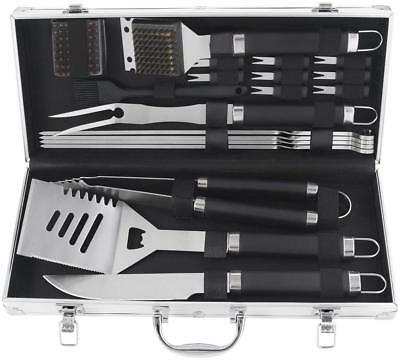 20pcs Stainless Steel BBQ Grill Tools Set - Complete Outdoor BBQ Grill Utensils