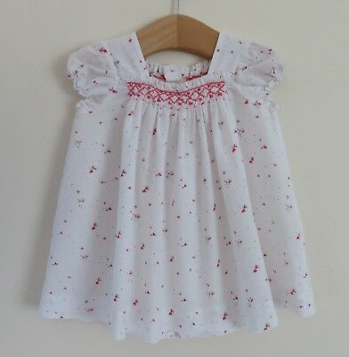 BONPOINT : Vestido 6 meses / Robe à smock 6 mois / French design Dress 6 Months
