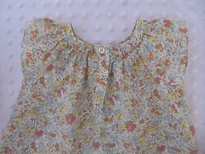 BONPOINT Liberty : Vestido 6 meses / Robe 6 mois / French design Dress 6 Months