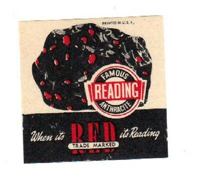 """A  Coal Mine Scatter Tag """"famous Reading Anthracite Label"""" Red Is Reading!!!"""