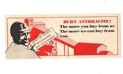 """Coal Mine Scatter Tag Label """" Burn Anthracite Label """" Loading Colliery & Miner!!"""