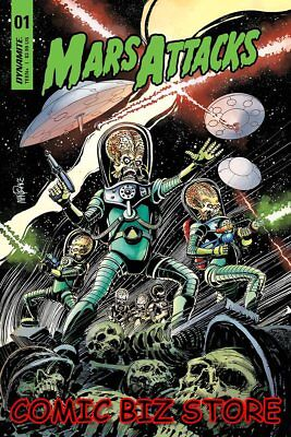 Mars Attacks #1 (2018) 1St Printing Mandrake Cover A Bagged & Boarded Dynamite