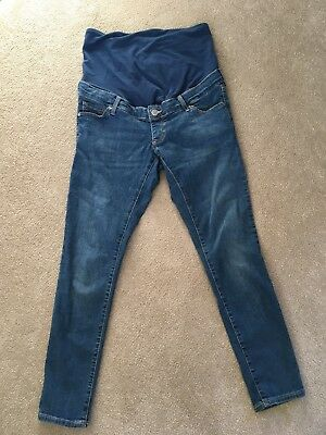 Maternity Topshop Leigh Jeans. Size 10. Over The Bump.