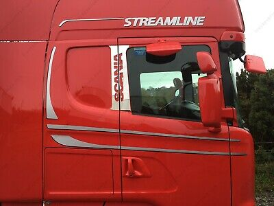 To Fit R P G Series Scania 2009-2016 door Pillar post Chrome Trim
