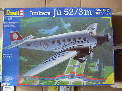 Revell 04558  JU 52 / 3m Airliner Version 1:48 Olympiade + Eduard Mask