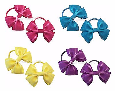 Girls organza hair bows on thick bobbles/elastics, organza hair accessories/bows