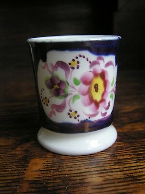 Pretty 19th century Gaudy Welsh Miniature mug - Floret pattern