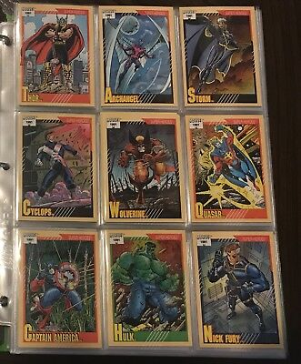 1991 Marvel Universe Series 2 Trading Cards - Complete 162 Card Base Set