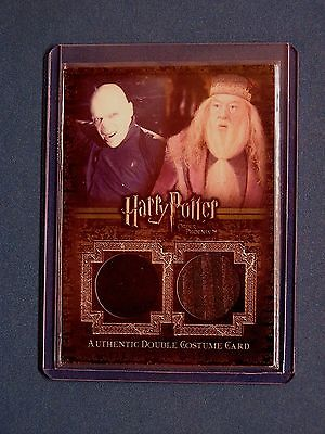 Harry Potter-Dumbledore-Voldemort-OOTP-AUTHENTIC-Double-Costume Card-C14