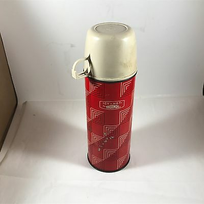 Vintage 1 Pint 3 Piece Metal Thermos King Seeley ICY HOT
