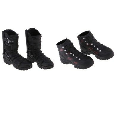 For 12'' Action Figure Male Phicen Kumik Accessories Black Ankle Boots 2pcs