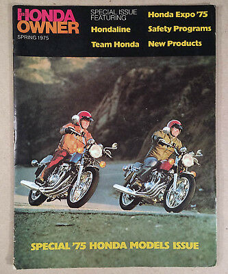 HONDA OWNER 1975 Motorcycle Magazine Advertising Brochure Fully Illustrated NICE