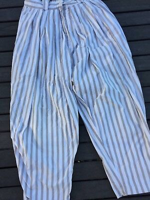 The Works striped pants - Size 12 - Vintage possibly late 80's