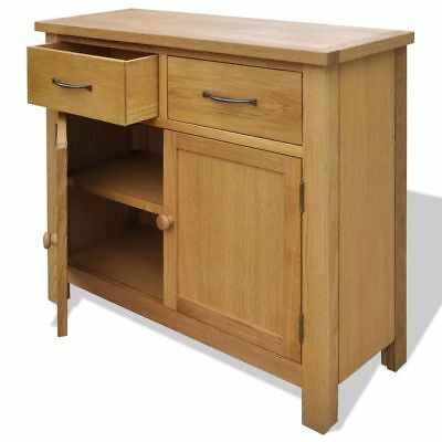 Ample Oak Sideboard 2Cabinets 2Drawers Storage Space Rustic Clean For Hallways