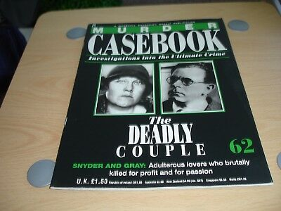 """Murder Casebook Vol. 62 """"The Deadly Couple"""" Snyder & Gray"""
