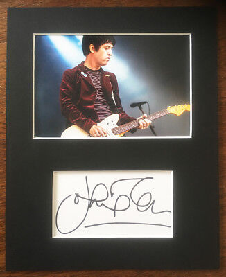 JOHNNY MARR HAND SIGNED Autograph Mounted With Photo THE SMITHS