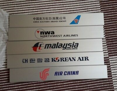 Air China Korean Air Malaysia Airlines China Southern NWA Metallschilder Lounge