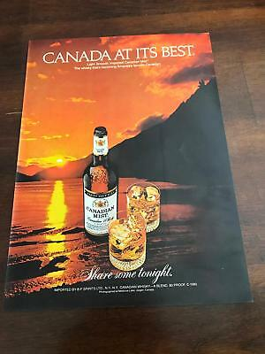 1981 VINTAGE 8X11 PRINT Ad FOR Canadian Mist Whisky Canada At Its Best SUNSET