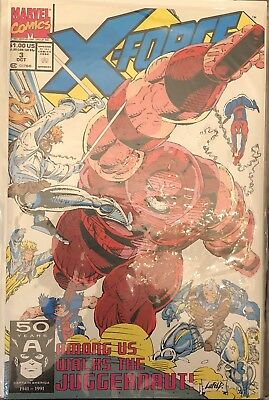 X-Force #3 (1991) Cnd: Nm - Spider-Man Team Up To Save The Twin Towers