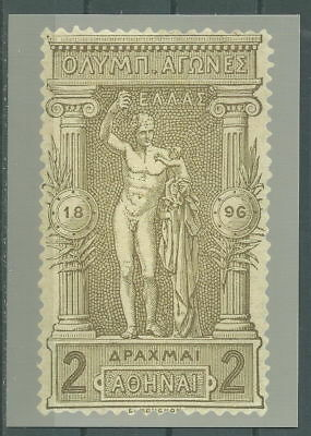 GREECE GREEK EDITION 2004 OFFICIAL CARD WITH 2 DR OF 1896 1st OLYMPIC GAMES RARE