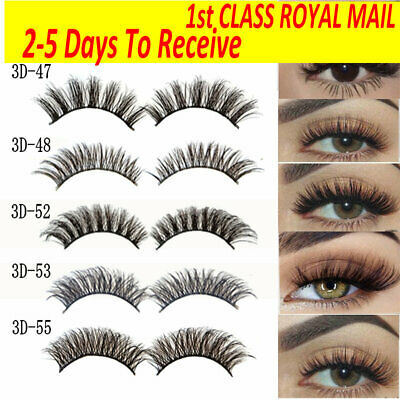 5Pairs 3D Natural False Eyelashes Long Thick Mixed Fake Eye Lashes Makeup Mink