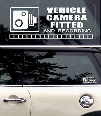 3 REVERSE Warning Stickers CCTV Video Camera Recording Car Vehicle Window Sign +