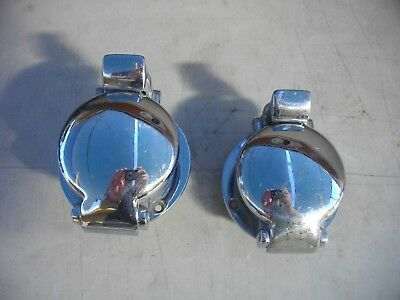 Glenwood Marine Monza style 2 inch flip top gas cap fuel fill chrome plated bras