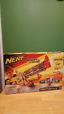 Nerf N-Strike Recon CS-6 Gun + Original Box.  Used in good condition.