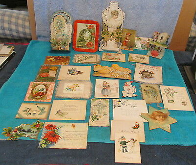 97 Antique Vtg Valentine~Easter~Greeting Cards~Pull-Out~Honeycomb~Mostly 1920's