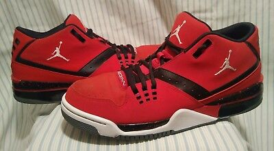 low priced 3c2ee 8e8cb NIKE Air Jordan Flight 23 Basketball Shoes Bred Red 317820-601 Mens Size 10