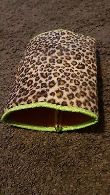 leopard print animal tube for small pets. Rats.guineas.ferrets.hedgehogs etc