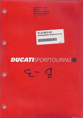2005 Ducati ST3 91470531E SUPPLEMENT ONLY shop manual NEW - ENGLISH/ITALIAN