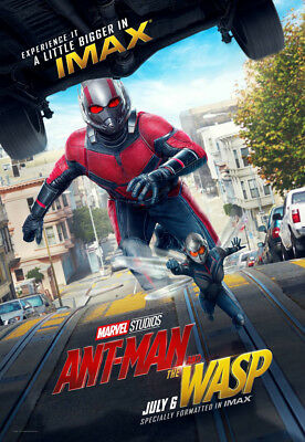 ANT-MAN AND THE WASP MOVIE POSTER 1 Sided ORIGINAL RARE IMAX BUS SHELTER 48X70
