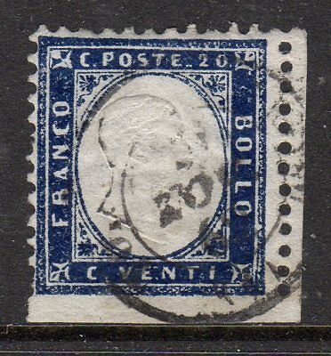Italy 1862 20c fine used, imperf at bottom