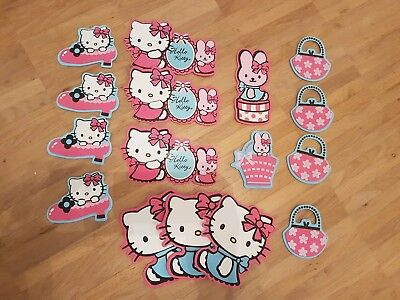 Hello Kitty Wandaufkleber Wandsticker Wandtattoo 16 tlg