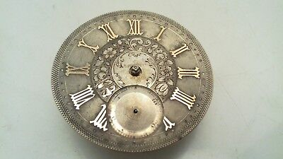 Antique Victorian H Peck London Silver Faced Pocket Watch Spares Or Repair