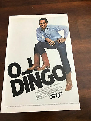 5758f3cd136 LOT OF 4 VINTAGE Dingo Boots O.J. Simpson Print Ads (3) 8.5 x 11 + ...