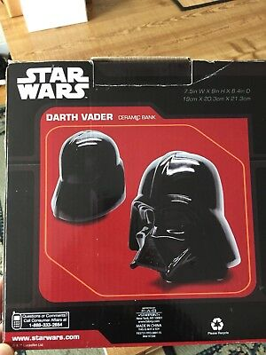 Disney Star Wars Darth Vader New Ceramic Bank Piggy Bank In Box