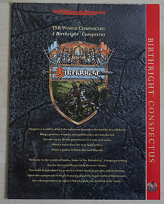 AD&D 2nd. Edition  Birthright Conspectus