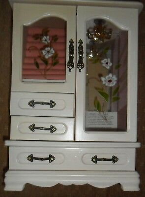 White Wooden Jewellery (armoire) - Cabinet Style Box