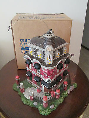 Department dept 56  ??? ~ Haunted Halloween House STARBUCKS coffee shop W/BOX