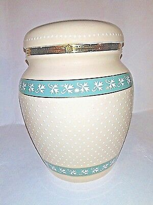 Knotts Berry Farm White Collectible Ceramic Canister With Flip Top
