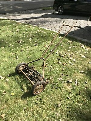 antique push lawn mower