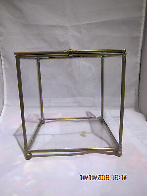 Glass and Brass Display case