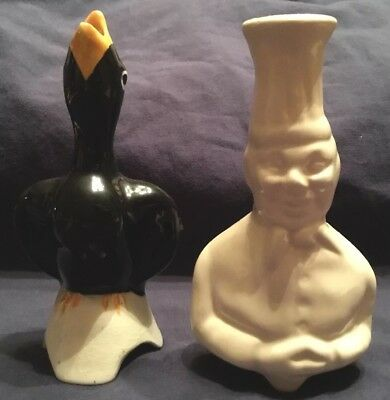 Two Pie Vents Or Funnels  Midwinter Blackbird & White Chef