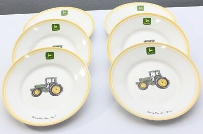 John Deere Dinnerware Salad Plate 9 in Set of 6 Gibson Tableware Collectible