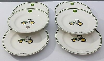 John Deere Dinnerware Plate Bowl Tractor Set of 30 Green Yellow Flatware