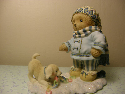 Cherished Teddies BRINLEY 4005875 The Happiest Holidays Are Spent With You   NEW