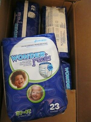 4 Packages WonderPants Toddler Training Pants Pull-On 3T-4T (92 Diapers Total)